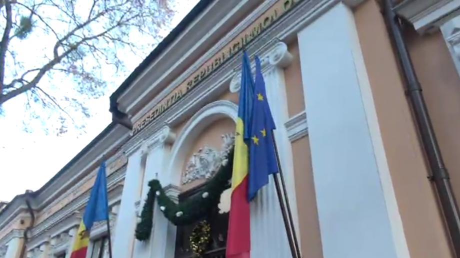(video) Deputații PL au arborat drapelul UE la sediul Președinției