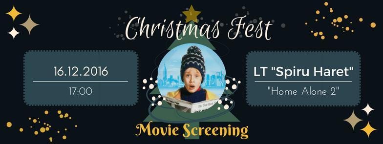 """Intră în atmosfera sărbătorilor de iarnă la un un movie screening la liceul """"Spiru Haret"""""""