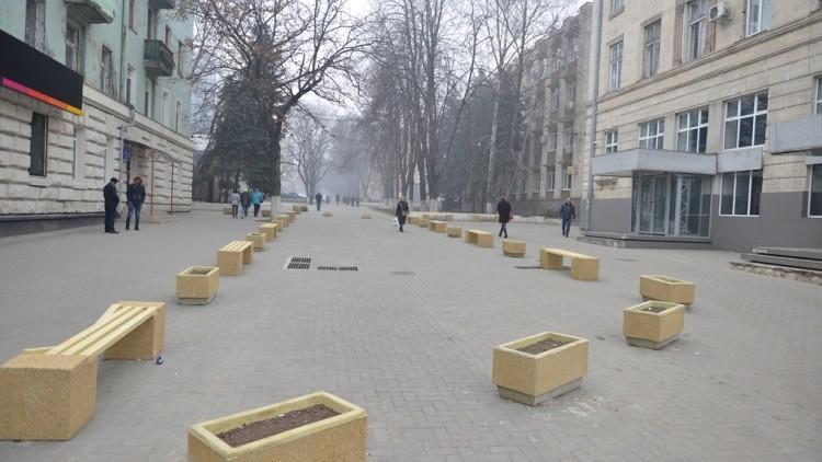 (foto) Între proiect și realitate. Cum arată scuarul din strada Bulgară după ce  a fost amenajat de către autorități
