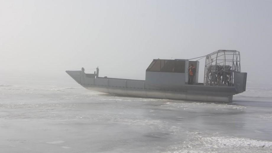 (foto) Aeroglisorul de la Molovata este funcțional și a efectuat prima cursă peste Nistrul înghețat