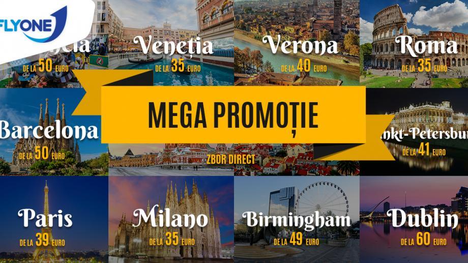 Mega Promoție Fly One! Zboară de la doar 35 euro spre Europa și Rusia