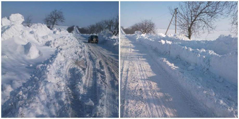 (foto, video) Zapadă de trei metri la Ciumai-Vulcanești. Iată cum arată unul din drumurile cele mai afectate de ninsori