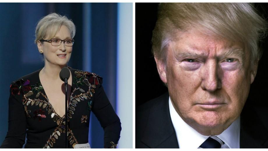 """Reacția lui Trump la discursul lui Meryl Streep,  pe care a catalogat-o """"actriță supraapreciată"""""""