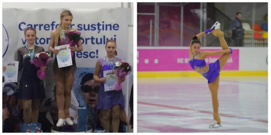 (foto) Două tinere din Moldova s-au clasat pe locuri de frunte la o competiție internațională de patinaj