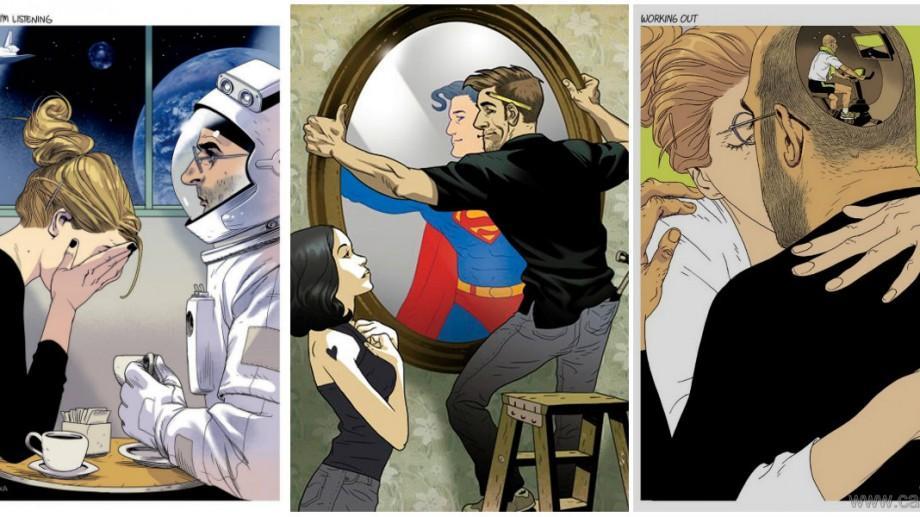 (foto) 10 ilustrații de Asaf și Tomer Hanuka ce ne arată realitatea zilelor noastre