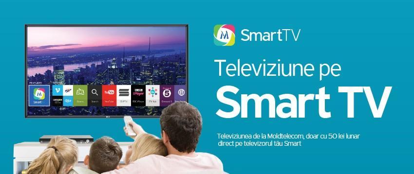 Orizonturi noi în televiziune cu Moldtelecom SmartTV! Compania îți oferă un televizor performant în rate