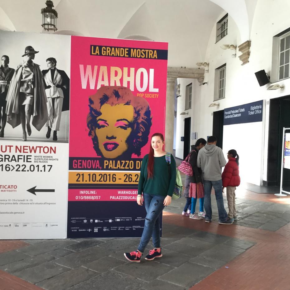 În excursia în Genova, la expoziția marelui artist pop - Andy Warhol