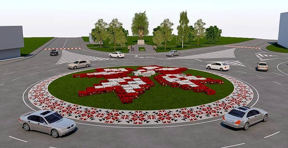 (foto) Idee propusă pentru orașul Ialoveni: Sens giratoriu cu elemente naționale