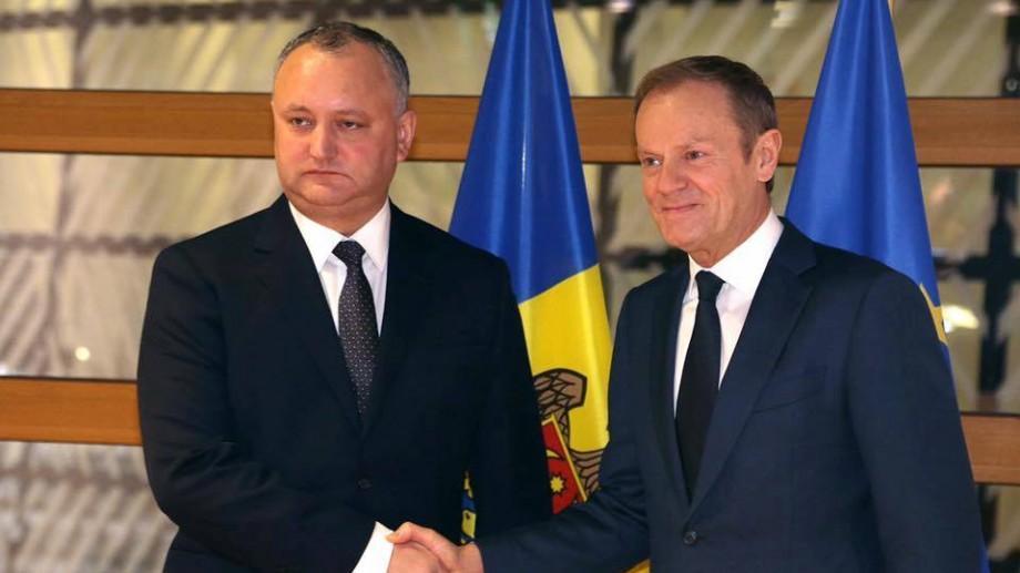 """(foto) Dodon, la Bruxelles: """"După semnarea Acordului de Asociere situația s-a înrăutățit"""""""