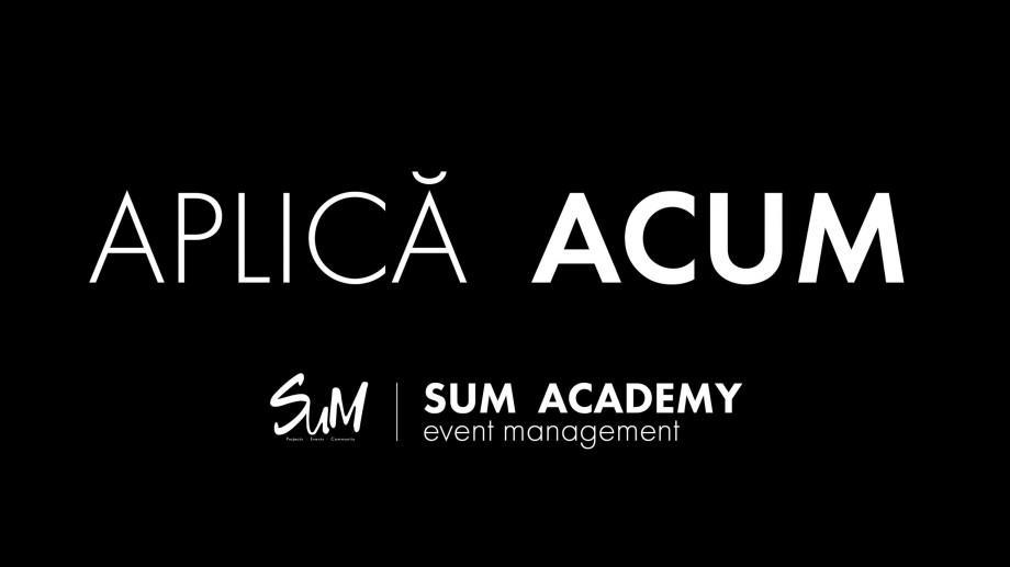 Învață cum să devii un event manager calificat – aplică la SUM Academy