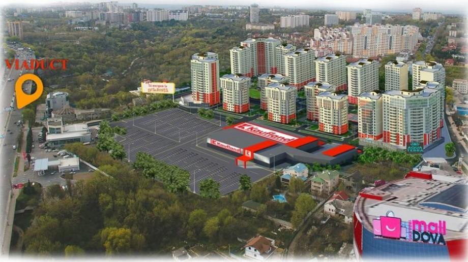 (foto) Unul din magazinele Kaufland va fi ridicat pe viaduct, în apropiere de Shopping MallDova