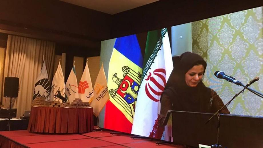 (foto) Drapelul Republicii Moldova, arborat în Iran fără crucea și sceptrul de pe stemă