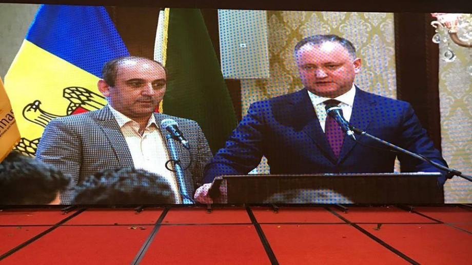 Igor Dodon menționează că nu se face vinovat de profanarea simbolului de stat