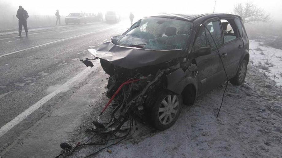 (foto) Accident de circulație pe traseul Chișinău – Orhei. Un automobil a luat foc