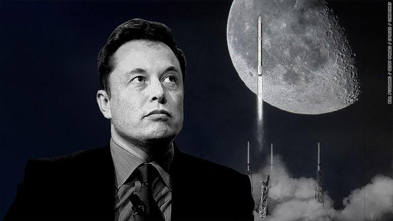 Planurile lui Elon Musk pentru 2018. Doi turiști spațiali vor călători în jurul Lunii