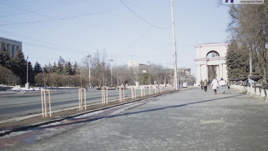 Reparațiile de pe Bulevardul Ștefan cel Mare și Sfânt nu vor fi finisate la timp din cauza pavajului tactil