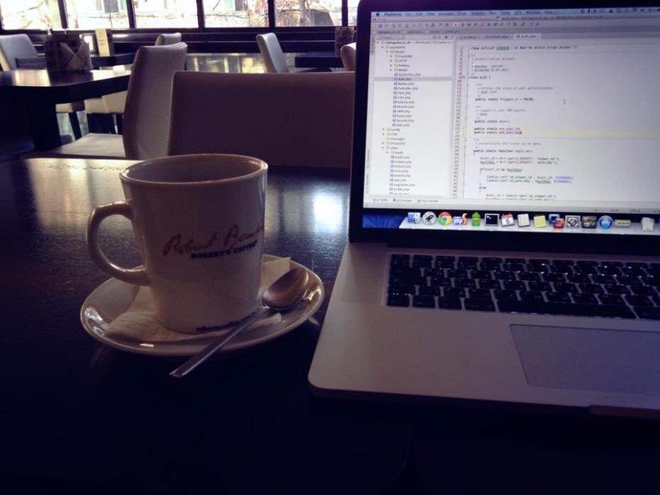 coffe laptop