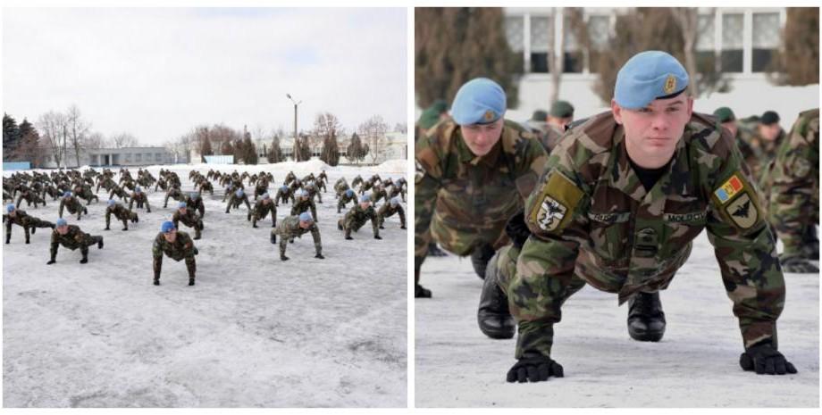 """(video) Militarii moldoveni au făcut flotări în cadrul provocării """"22 Push-up Challenge"""""""