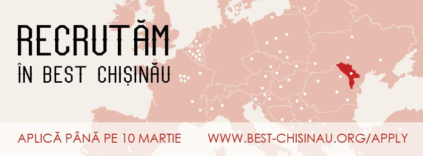 BEST Chișinău te recrutează! Acceptă provocarea și fă parte din cea mai energică echipă studențească