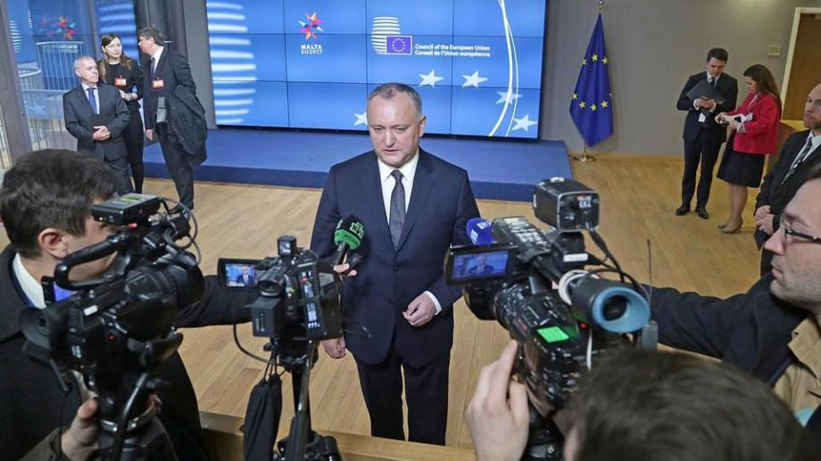 PDM condamnă modul în care Republica Moldova a fost reprezentată la Bruxelles de Dodon