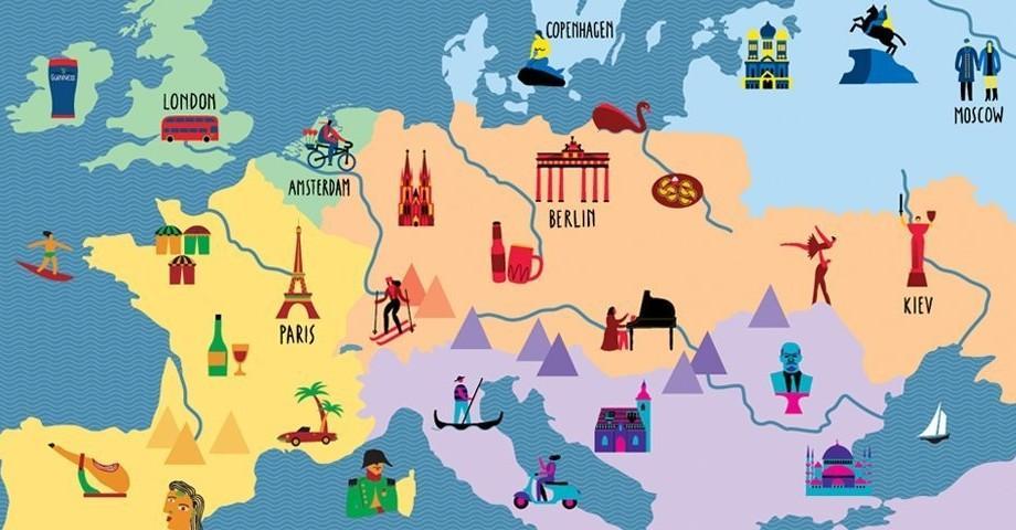 (hartă) Cum să-ți iriți amicii europeni prin intermediul unei singure fraze