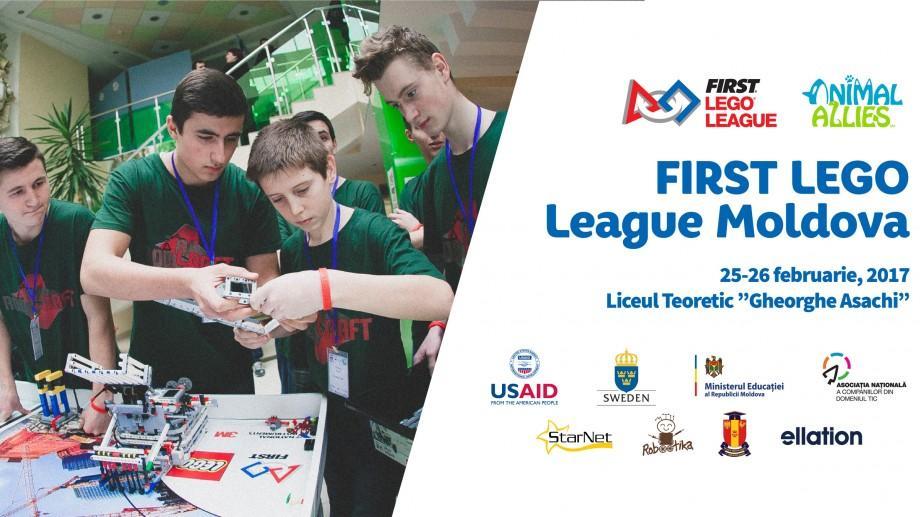 Număr record de participanți! Peste 300 de elevi vor participa la FIRST LEGO League Moldova 2017