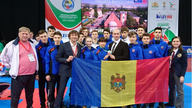 (foto) Moldova a obținut o medalie de aur la Campionatul European la karate WKF
