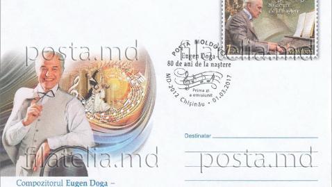 (foto) Poșta Moldovei lansează o linie de plicuri persoanalizate cu Eugen Doga, Cricova și Purcari