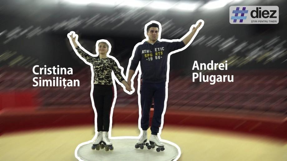 (video) Unde-s tinerii. Andrei Plugaru și Cristina Similițan, tinerii care cuceresc orașele europene cu acrobații pe role