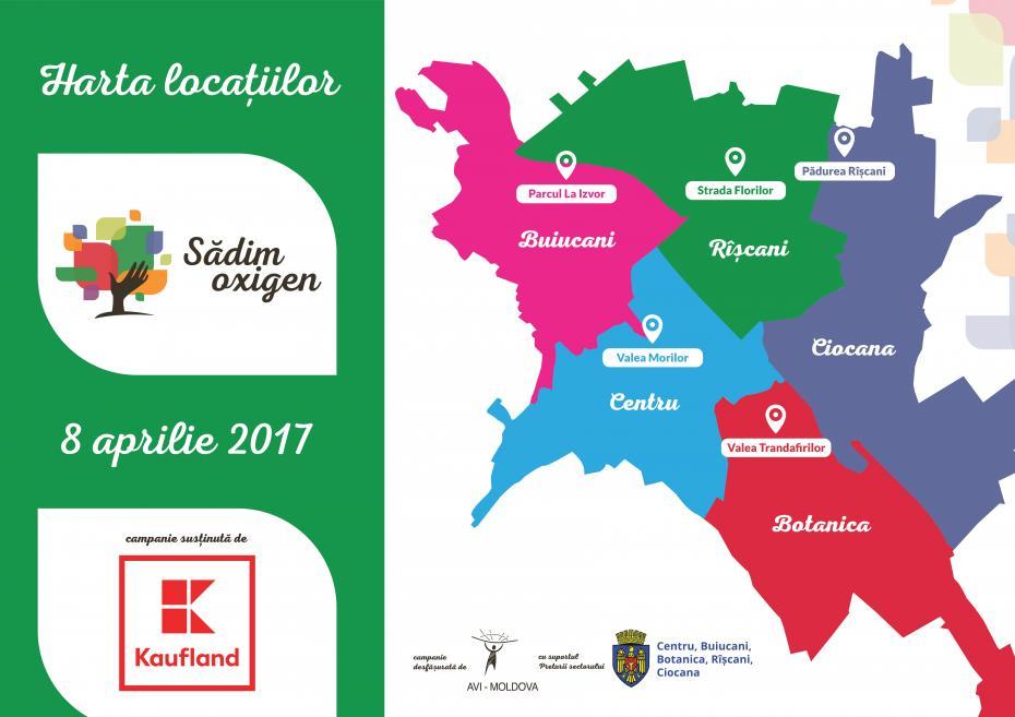 Harta Campania Sădim Oxigen La Chișinău 5000 De Copaci