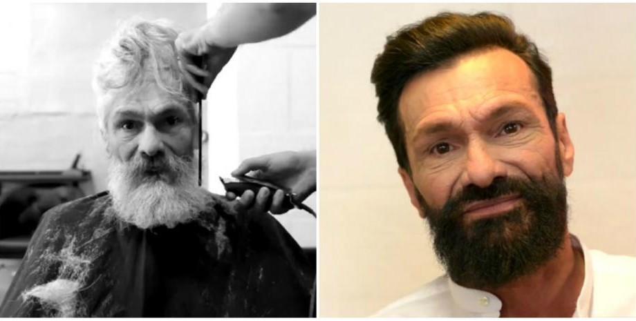 (video) Transformarea incredibilă a unui om al străzii după a primit o vizită gratuită la frizer