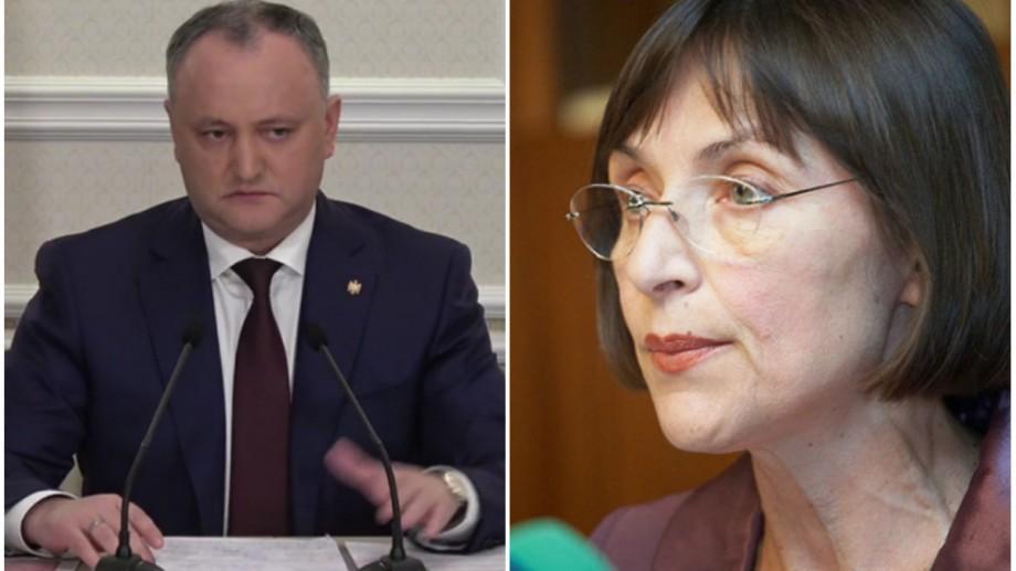 """Igor Dodon cere demisia ministrei Corinei Fusu: """"Nu încurcați sediul PL cu școala"""""""