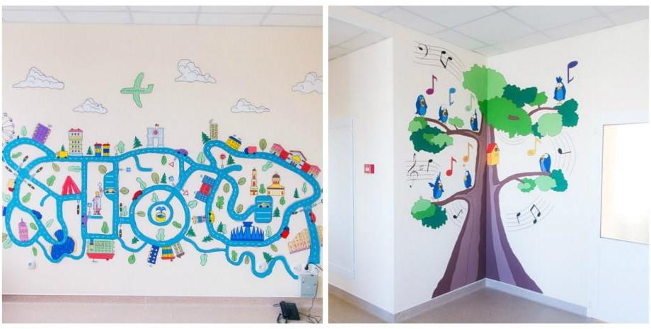 (foto, video) Centrul Mamei și Copilului a devenit mai colorat datorită proiectului Chișinău is Me