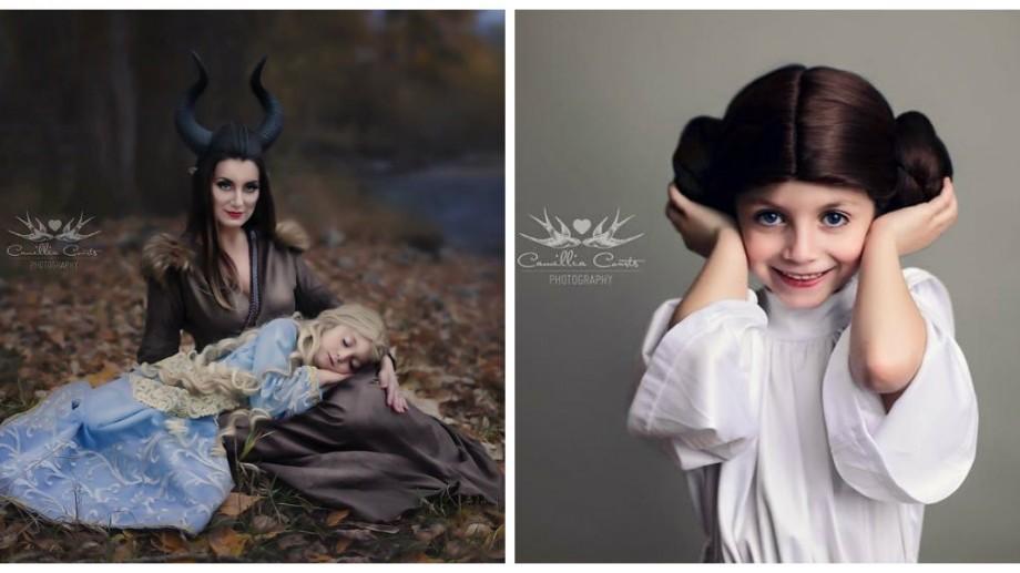 (foto) Imagini de poveste. O fotografă și fiica ei, în pielea unor personaje Disney