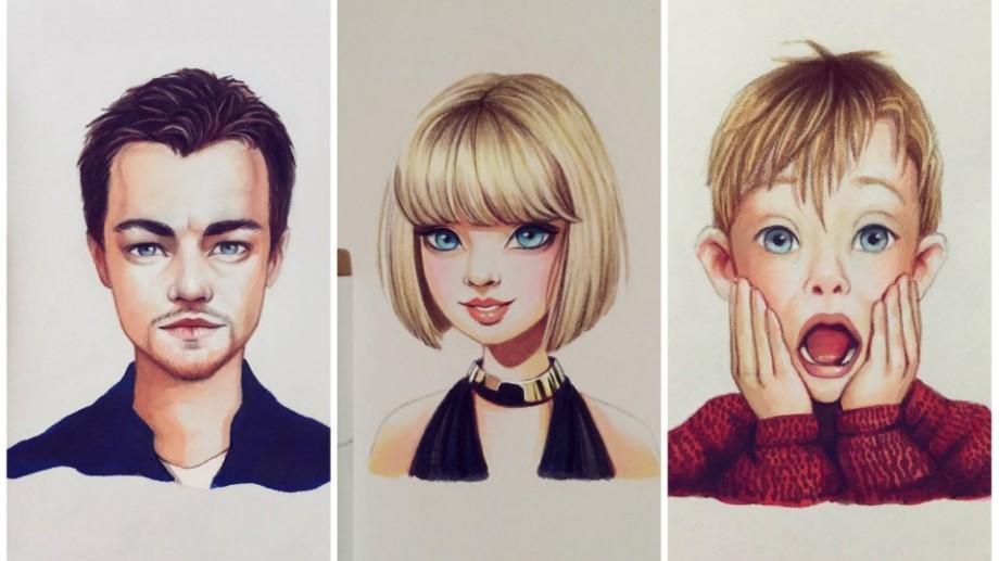 (foto) O artistă din Rusia transformă celebritățile în personaje adorabile rupte din desenele animate
