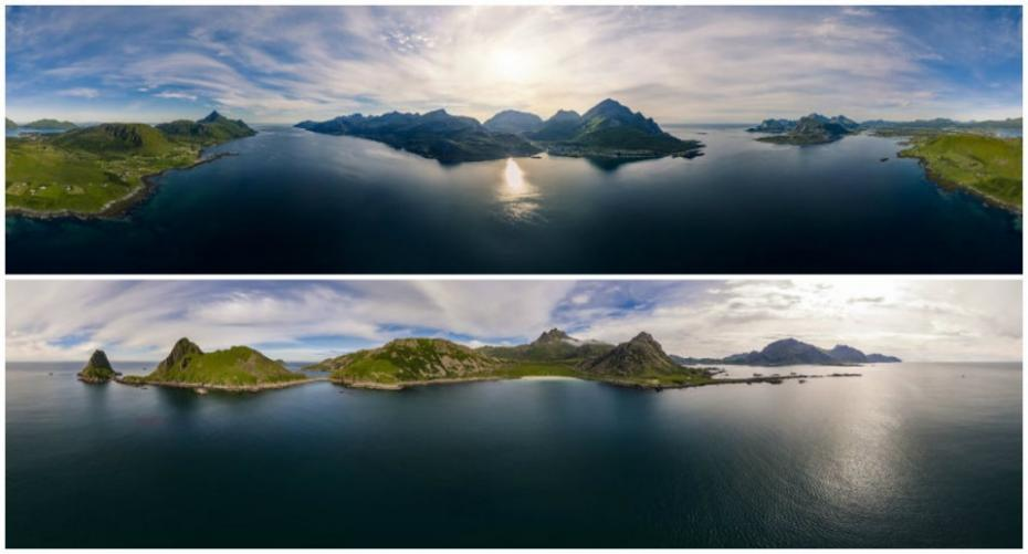 (foto) Imagini spectaculoase. 20 de fotografii panoramice din Lofoten Norvegia