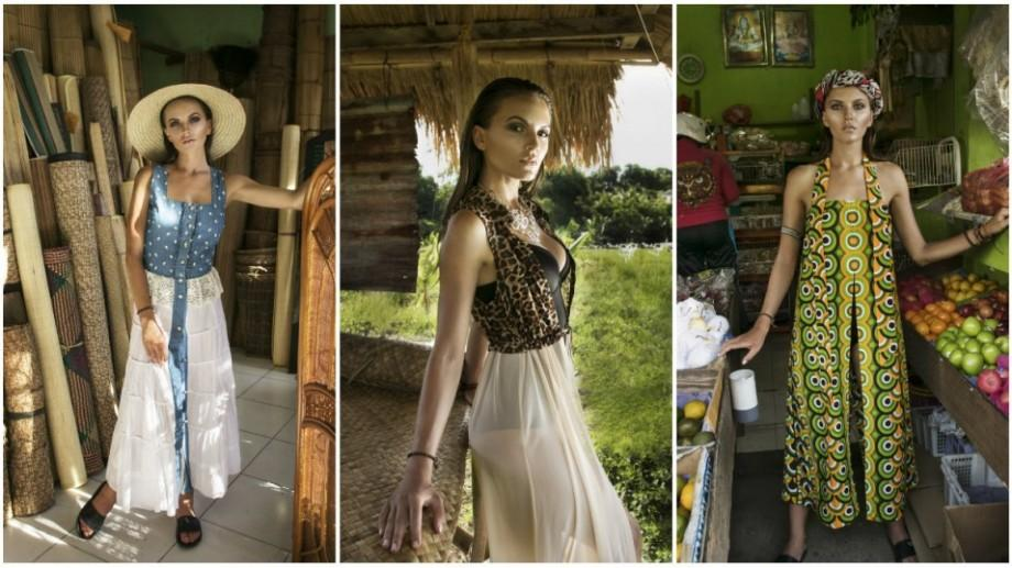 (foto) A combinat odihna cu munca. Olga Stepanenco a realizat o ședință foto exotică în Bali pentru un brand autohton