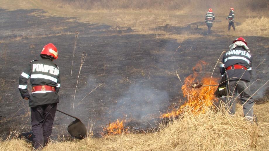 Peste 180 hectare de teren cu vegetație uscată au ars în ultimele 24 de ore