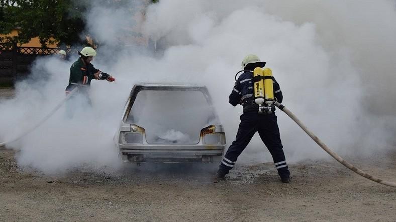 (foto) S-au izbit în copac. Un taximterist și clientul său au decedat carbonizați după ce mașina le-a luat foc