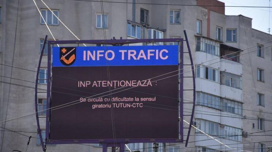 (foto) Șoferii vor primi informații actualizate despre trafic pe ecranele LED din Chișinău