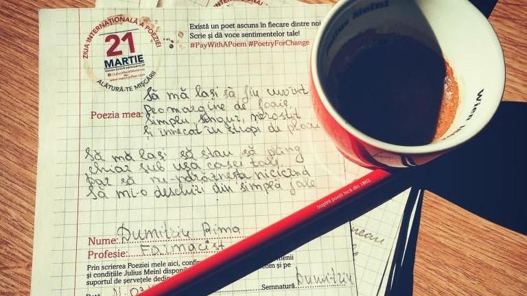 Cu cafea și rime! Cum s-a desfășurat Ziua Internațională a Poeziei la Librăria Bestseller