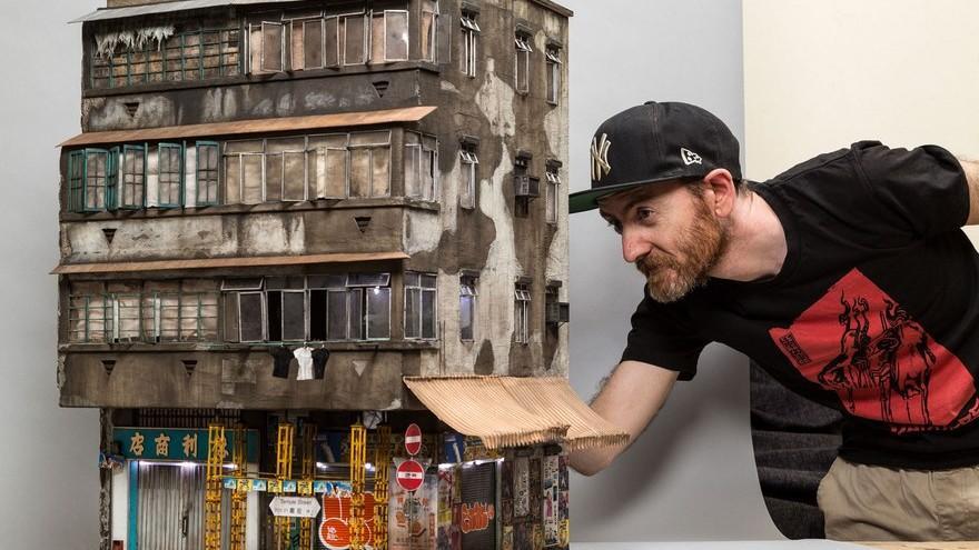 (foto) Lucrări în miniatură ce prezintă fidel toate detaliile clădirilor de la care au fost inspirate