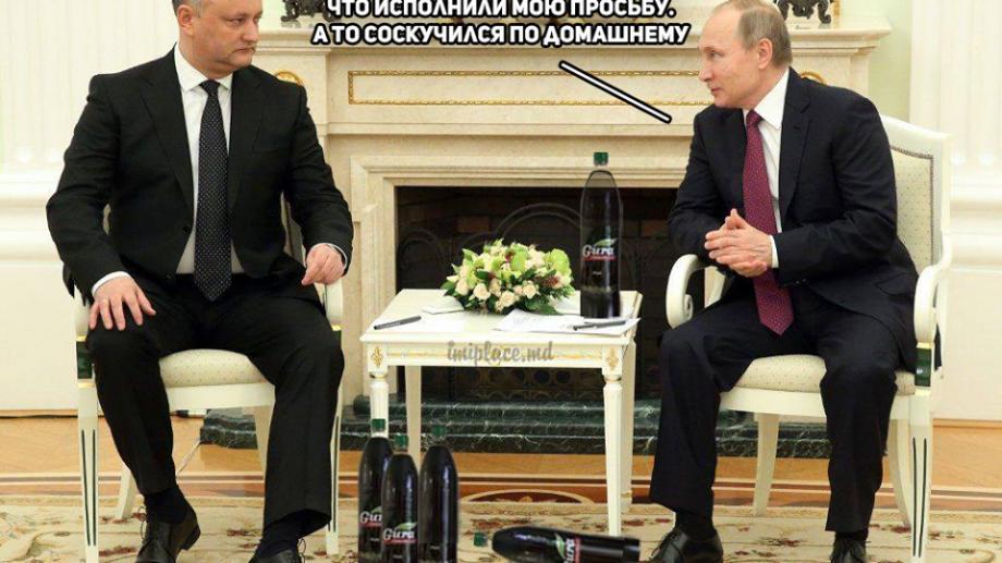 """(video) Piesă parodie despre Dodon și Putin: """"Sunt al vostru Igor Dodon și v-am adus Cabernet Sauvignon"""""""