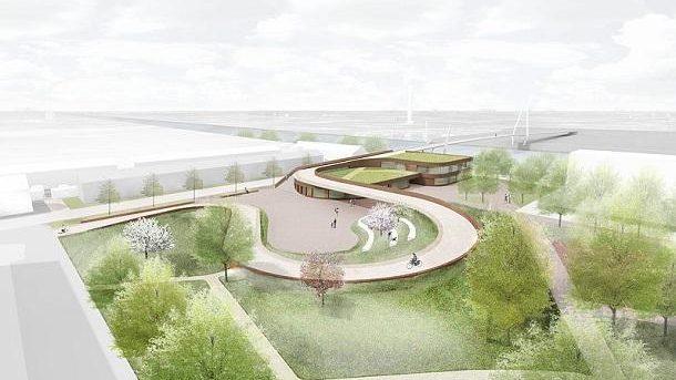 (video) Un pod din Olanda are dublă utilizare: pistă pentru bicicliști și acoperiș verde pentru o școală