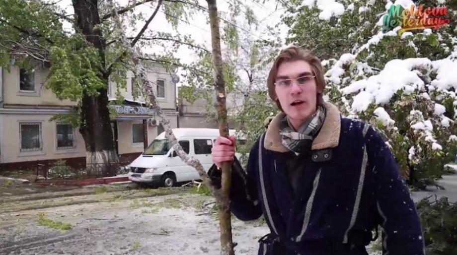 """Parodie video. Dorin Chirtoacă despre zăpadă și copaci: """"Știam că va ninge în aprilie"""""""