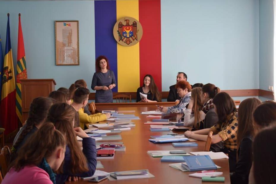 Ședința Consiliului Raional al Elevilor din Ștefan-Vodă