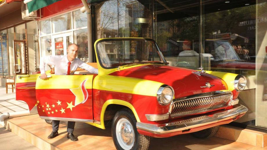 (foto) O nouă atracție în Chișinău – legendara Volga GAZ 21