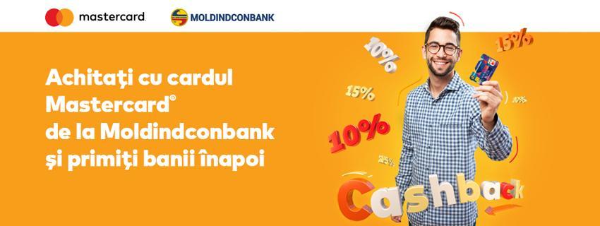 Moldindconbank şi Mastercard dau start promoției Cashback!