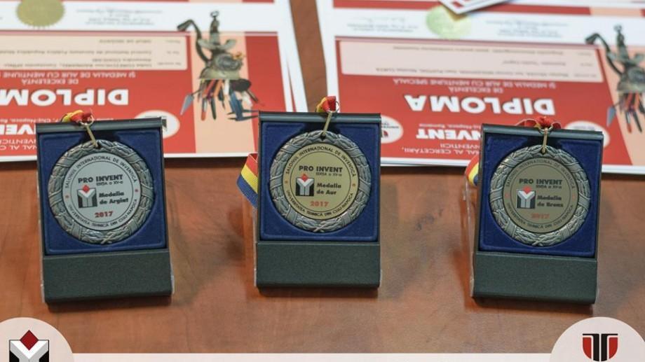 UTM a luat 15 medalii de aur și alte premii la PRO INVENT 2017 din Cluj-Napoca, România