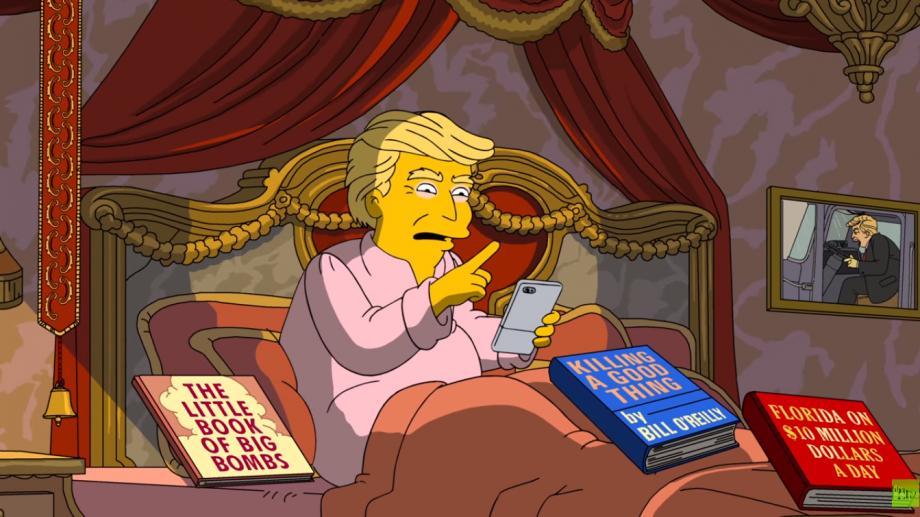 """(video) 100 de zile de mandat. """"The Simpsons"""" a creat un promo în care Trump este luat în râs"""
